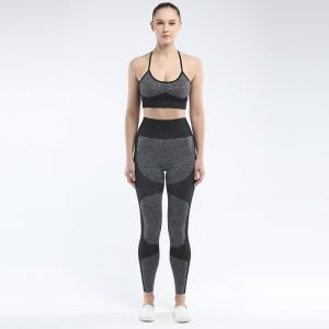 Seamless 2 piece yoga set black Force