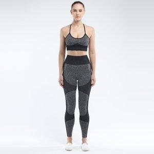 Seamless 2 piece yoga set black Force