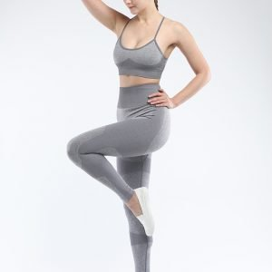 Seamless 2 piece yoga set grey Force