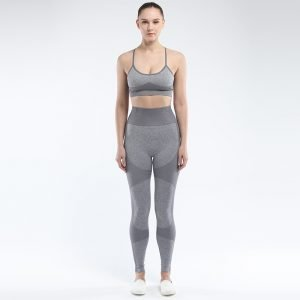 Seamless 2 piece yoga set grey Force