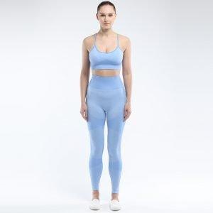Seamless 2 piece yoga set light blue Force