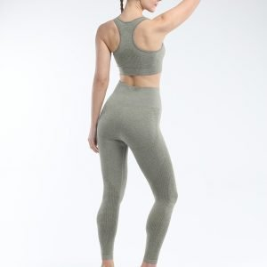 Seamless yoga bra legging set army green Effect