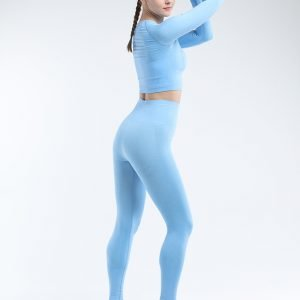 Seamless legging set blue Effect