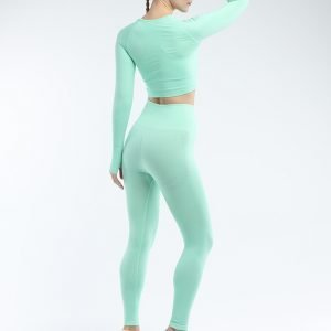 Seamless legging set green Effect