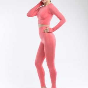 Seamless legging set orange red Effect