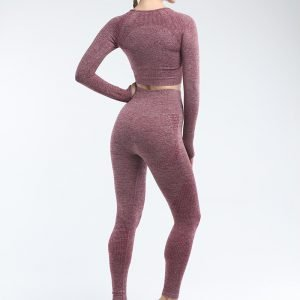 Seamless leggings wine Effect