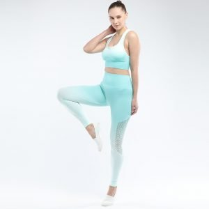 Bra and legging sets green Hollow