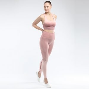 Bra and legging sets root red Hollow
