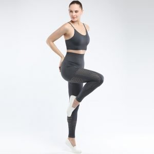 Legging and bra workout set grey Park