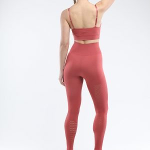 Legging and bra workout set rust red Park