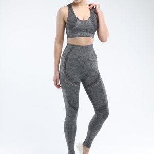 Legging and sports bra set dark grey Win