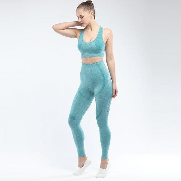 legging and sports bra set light green Win