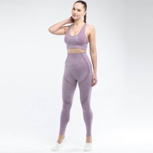 legging and sports bra set light purple Win