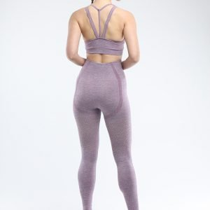 Legging and sports bra set light purple Win