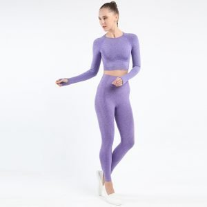 Seamless legging set purple Effect