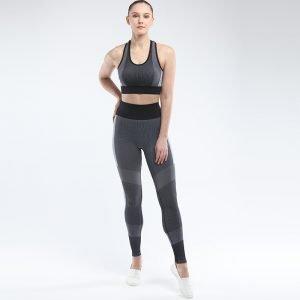 Seamless activewear sets dark grey Energy