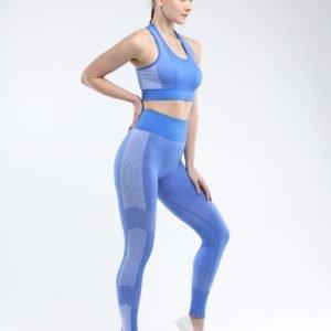 Seamless activewear sets sky blue Energy