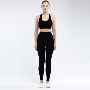 Seamless bra legging set black Super