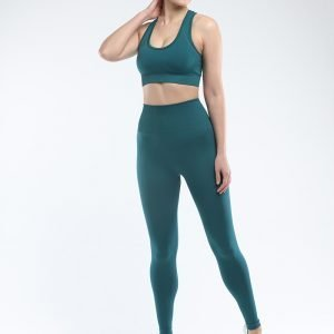 Seamless bra legging set dark green Super