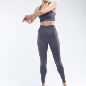 Seamless yoga legging grey Super