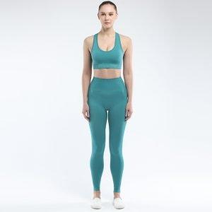 Seamless bra legging set light green Super