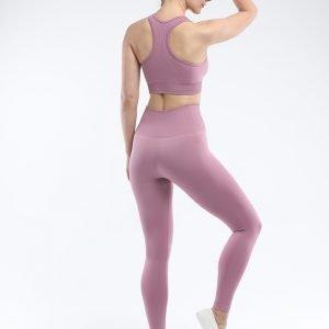Seamless bra legging set light purple Super