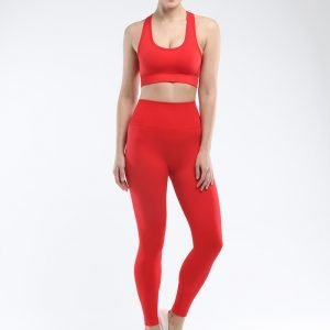 Seamless yoga legging red Super