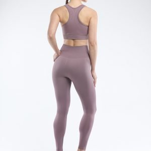 Seamless bra legging set root purple Super