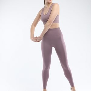 Seamless yoga legging root purple Super