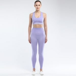 Seamless bra legging set taro Super