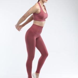 Seamless yoga legging rust red Super