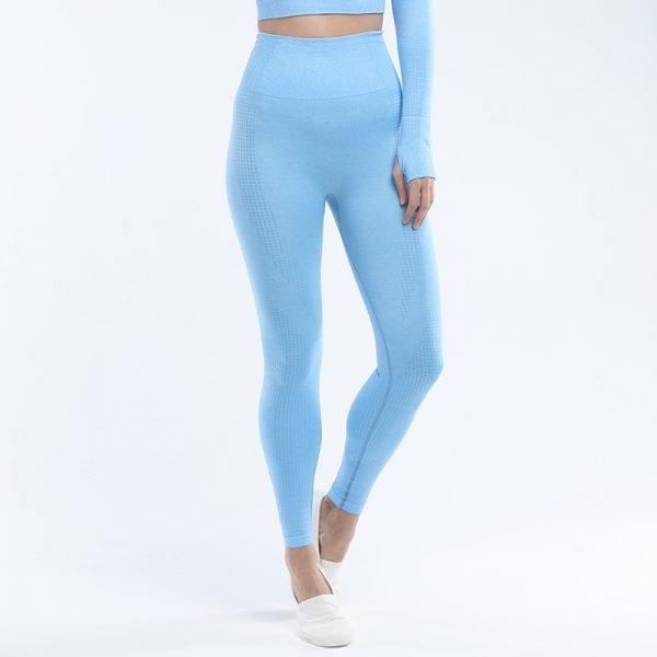 seamless leggings blue