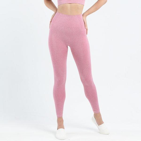 seamless leggings pink