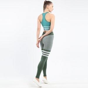 Seamless underwear bra set green Triunity