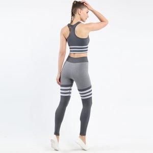 Seamless underwear bra set grey Triunity