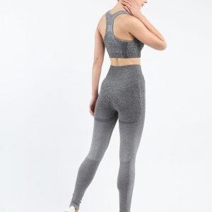Seamless wear bra legging set dark grey Change