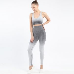 Seamless wear bra legging set light grey Change