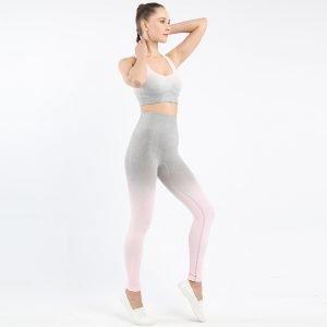 Seamless wear bra legging set light pink Change