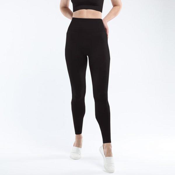 seamless yoga legging black super
