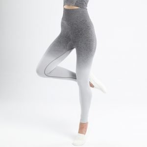 Seamless yoga leggings light grey Change