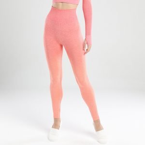 Seamless yoga leggings ornage red Change