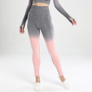 Seamless yoga leggings pink Change