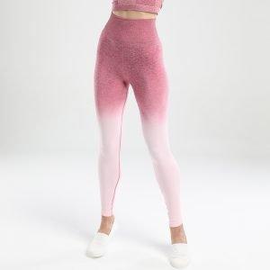 Seamless yoga leggings rose red Change