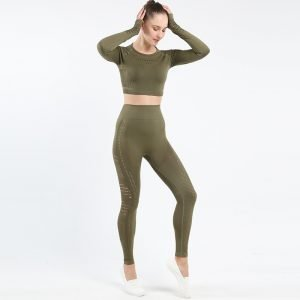 Seamless yoga set army green Space