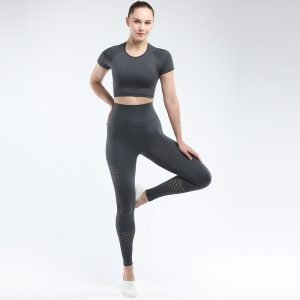 Seamless yoga set for women grey Park