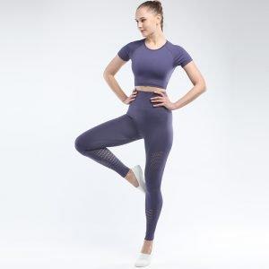 Seamless yoga set for women navy Park