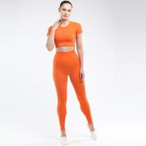 Seamless yoga set for women orange Park