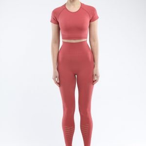 Seamless yoga set for women rust red Park