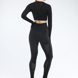 Seamless yoga set women fitness clothing black Park