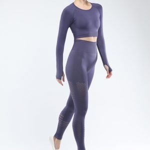 Seamless yoga set women fitness clothing navy Park